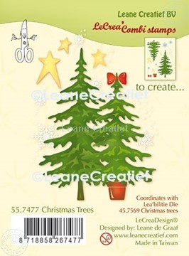 Picture of LeCreaDesign® combi clear stamp Christmas trees