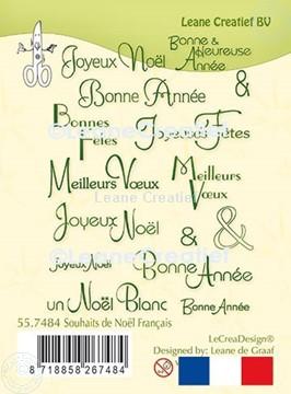 Picture of LeCreaDesign® clear stamp Souhaits de Noël Français